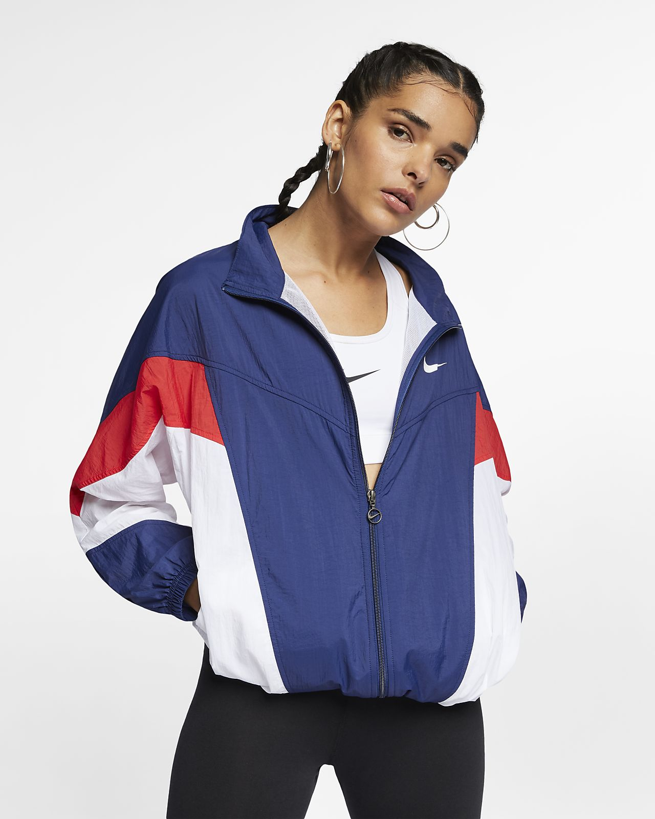 c2ae96a02b Nike Sportswear Windrunner  Throwback  Women s Windbreaker. Nike.com DK
