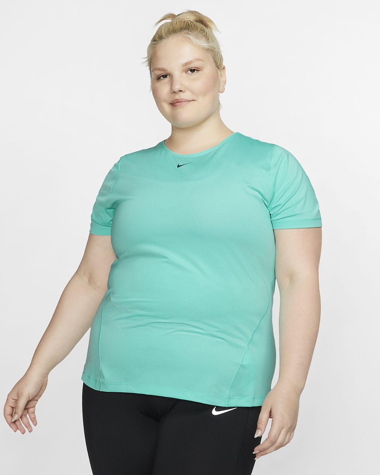 Damska siateczkowa koszulka Nike Pro (duże rozmiary)