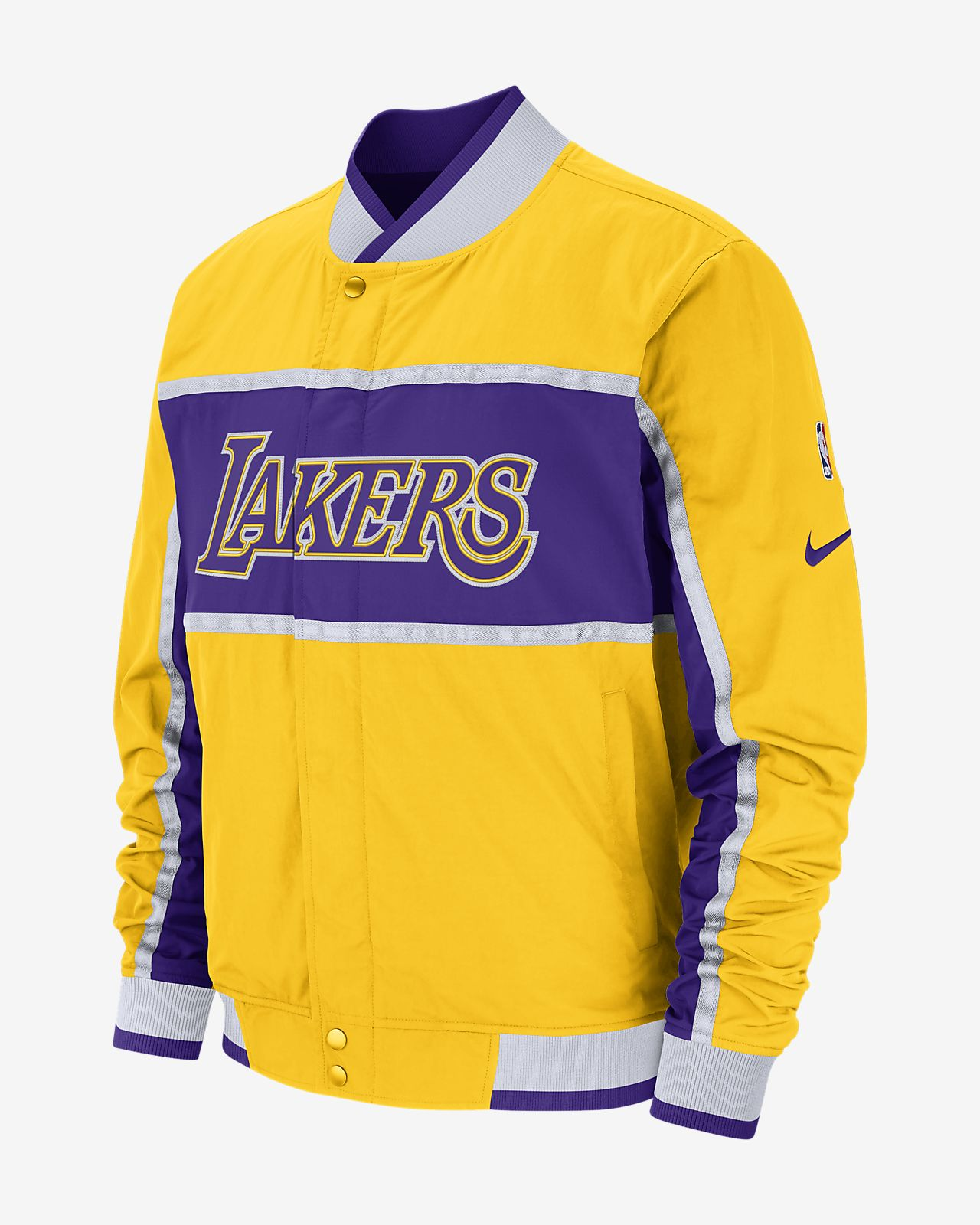 1fc74a2fc37 Los Angeles Lakers Nike Courtside Men s NBA Jacket. Nike.com AT