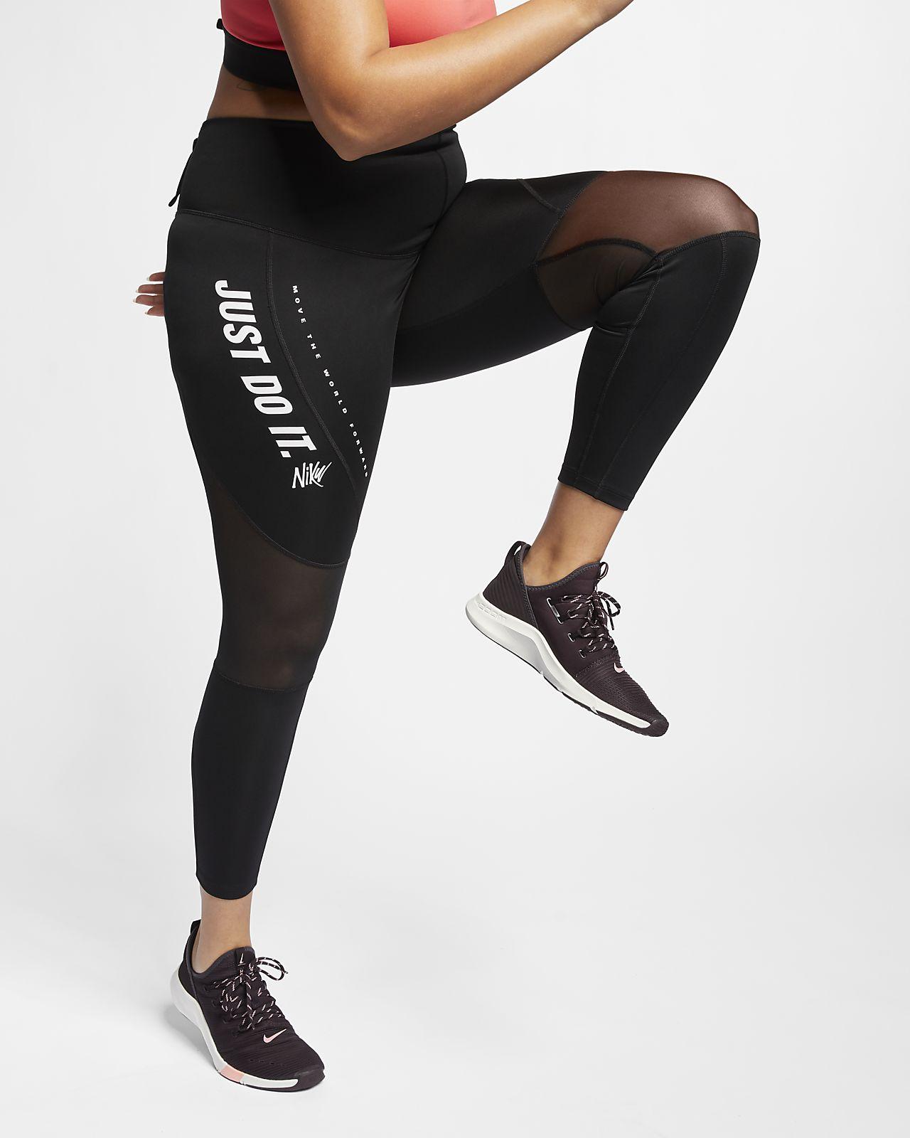 Nike Power testhezálló női edzőnadrág (plus size méret)