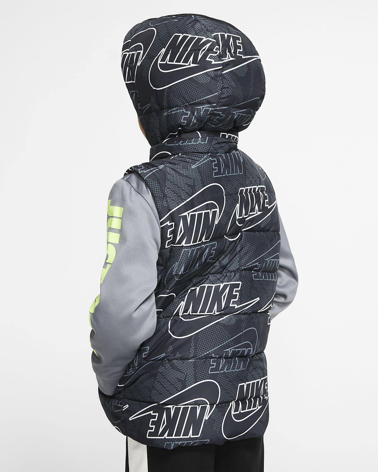 Nike Therma Little Kids' Full Zip Puffer Hoodie