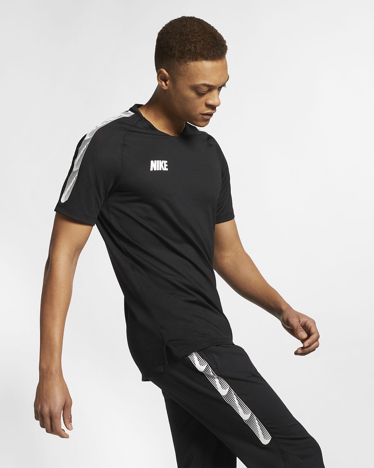 Prenda para la parte superior de fútbol de manga corta para hombre Nike Breathe Squad
