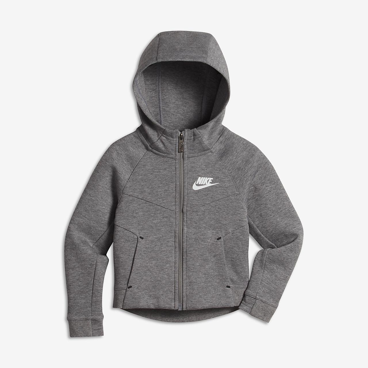 Nike Sportswear Tech Fleece - hættetrøje til små børn (piger)