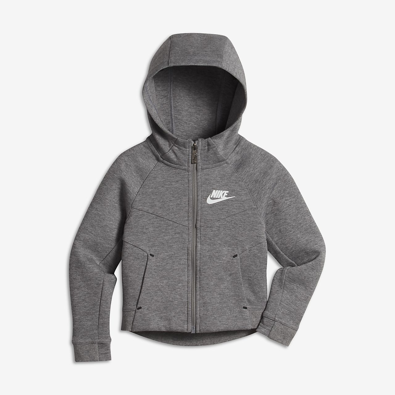 Nike Sportswear Tech Fleece Younger Kids' (Girls') Hoodie