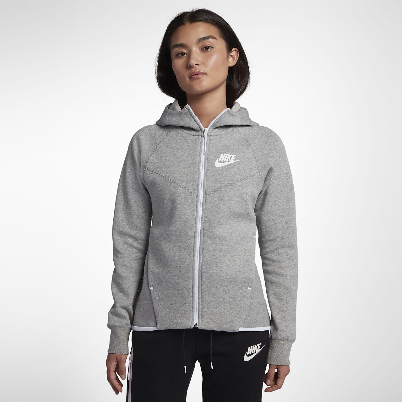 Huvtröja med hel dragkedja Nike Sportswear Tech Fleece Windrunner för kvinnor