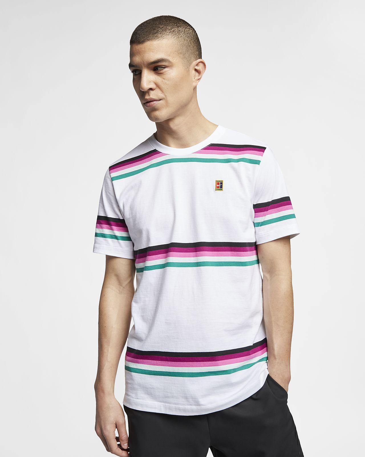NikeCourt Men's Striped Tennis T-Shirt
