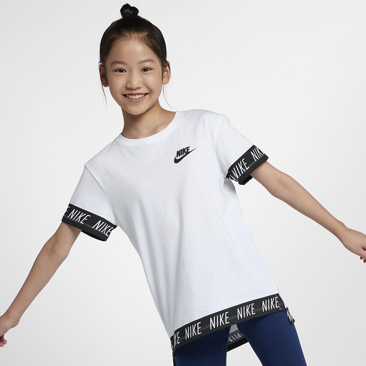 Ch Pour Tee Nike Âgée Shirt Sportswear Fille Plus qvFOT0wP