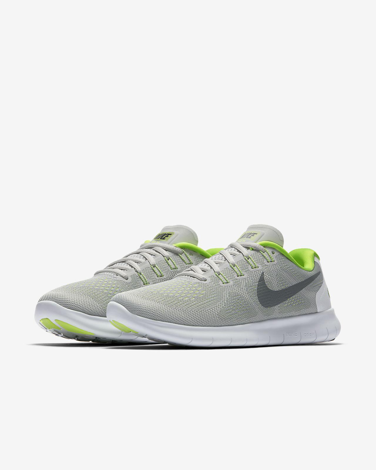 Nike Free Run 2017, Chaussures de Running Femme, Blanc (White/Black-Pure Gris Platinum), 38.5 EU