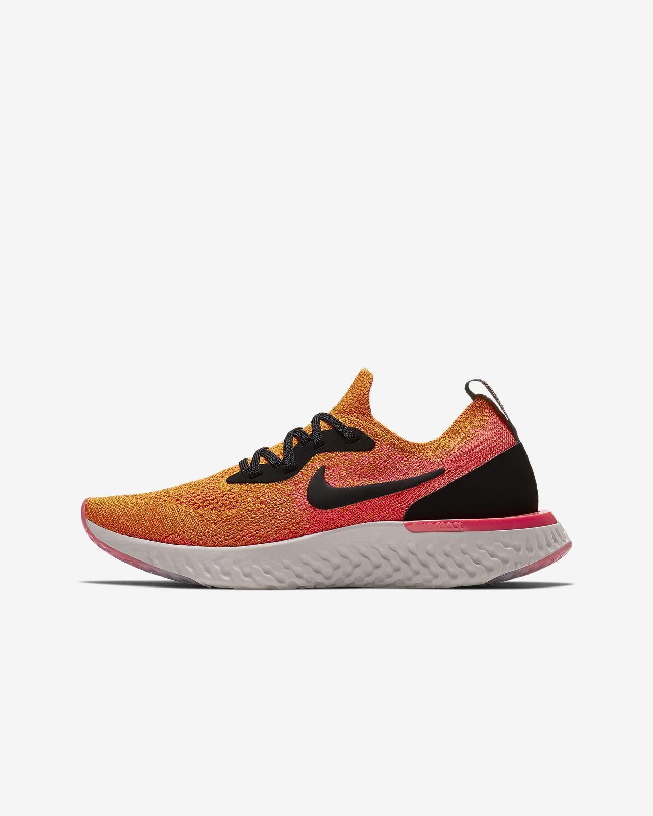 Nike Epic React Flyknit 1 Big Kids  Running Shoe. Nike.com 7d9fdcd0d2e