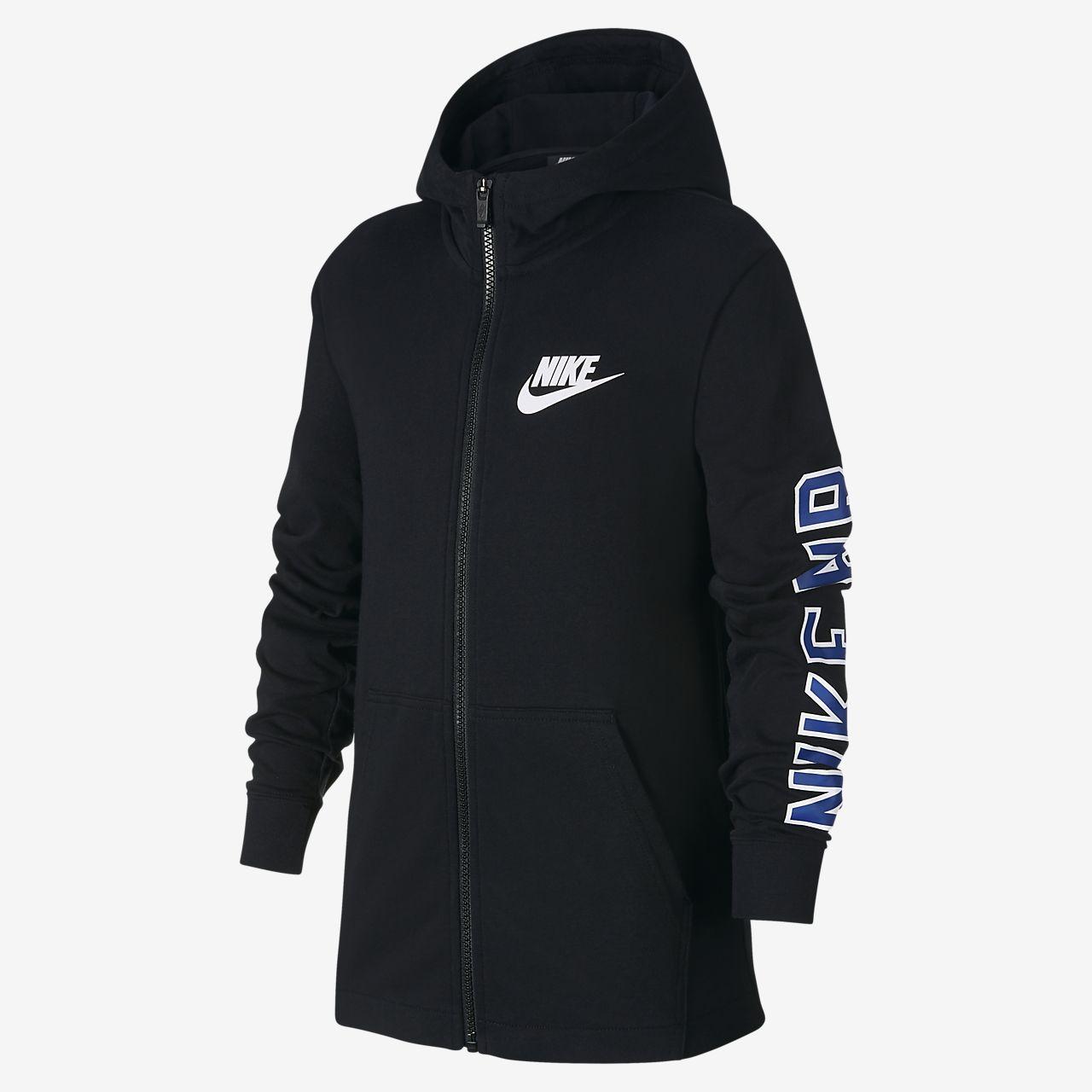 Nike 大童(男孩)全长拉链开襟连帽衫
