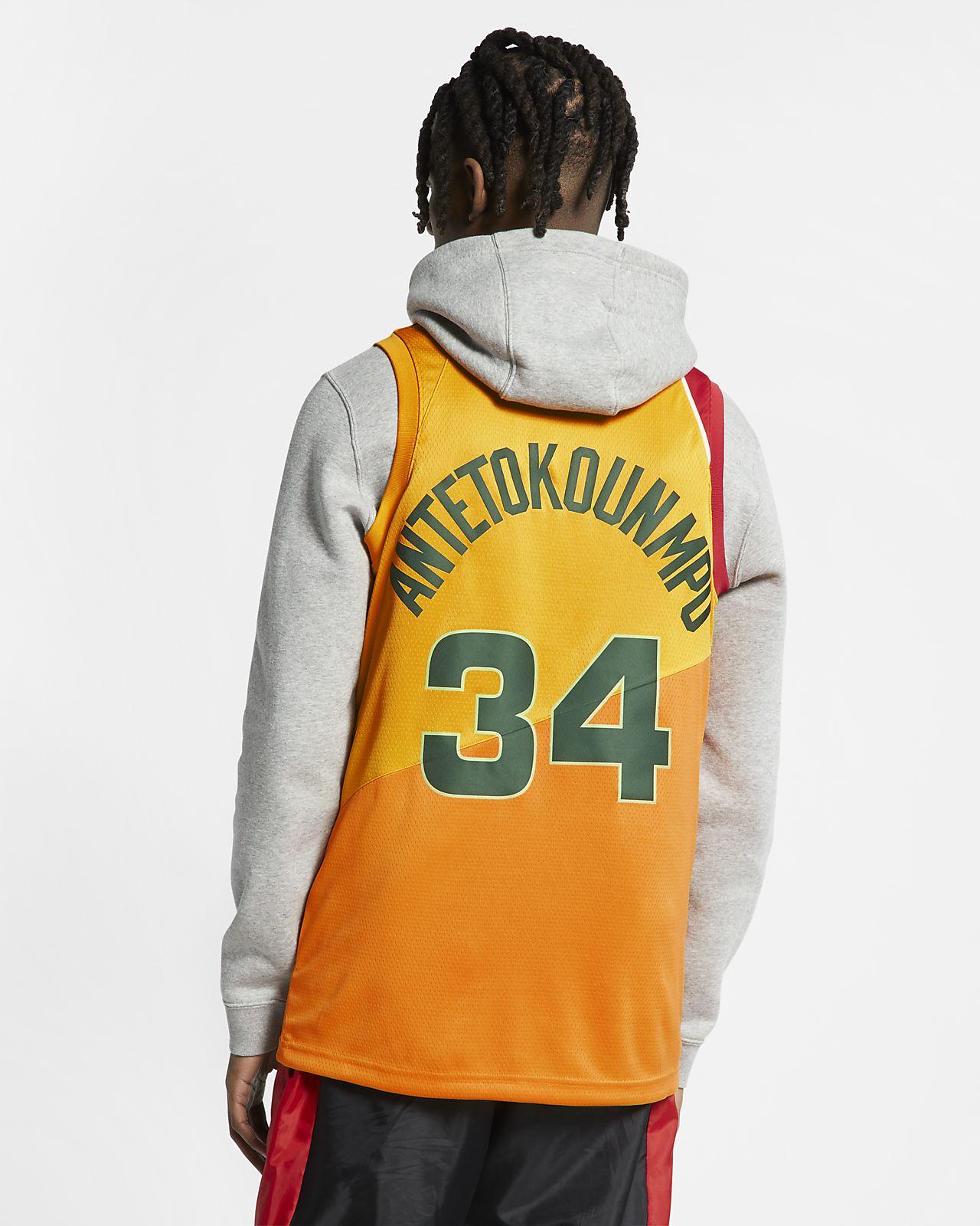 Giannis Antetokounmpo City Edition Swingman (Milwaukee Bucks) Nike NBA Connected Trikot für Herren