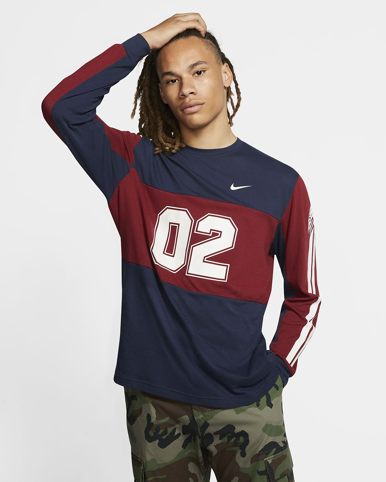 Nike SB Camiseta de skateboard de malla de manga larga - Hombre