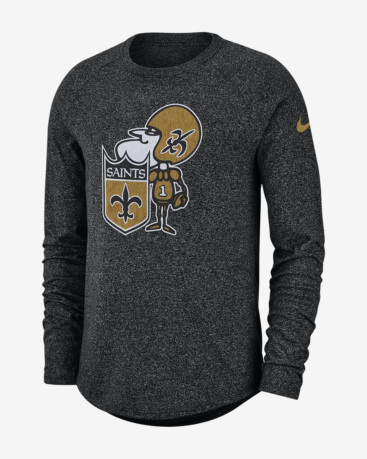 Nike Historic (NFL Saints) Men's Long-Sleeve T-Shirt