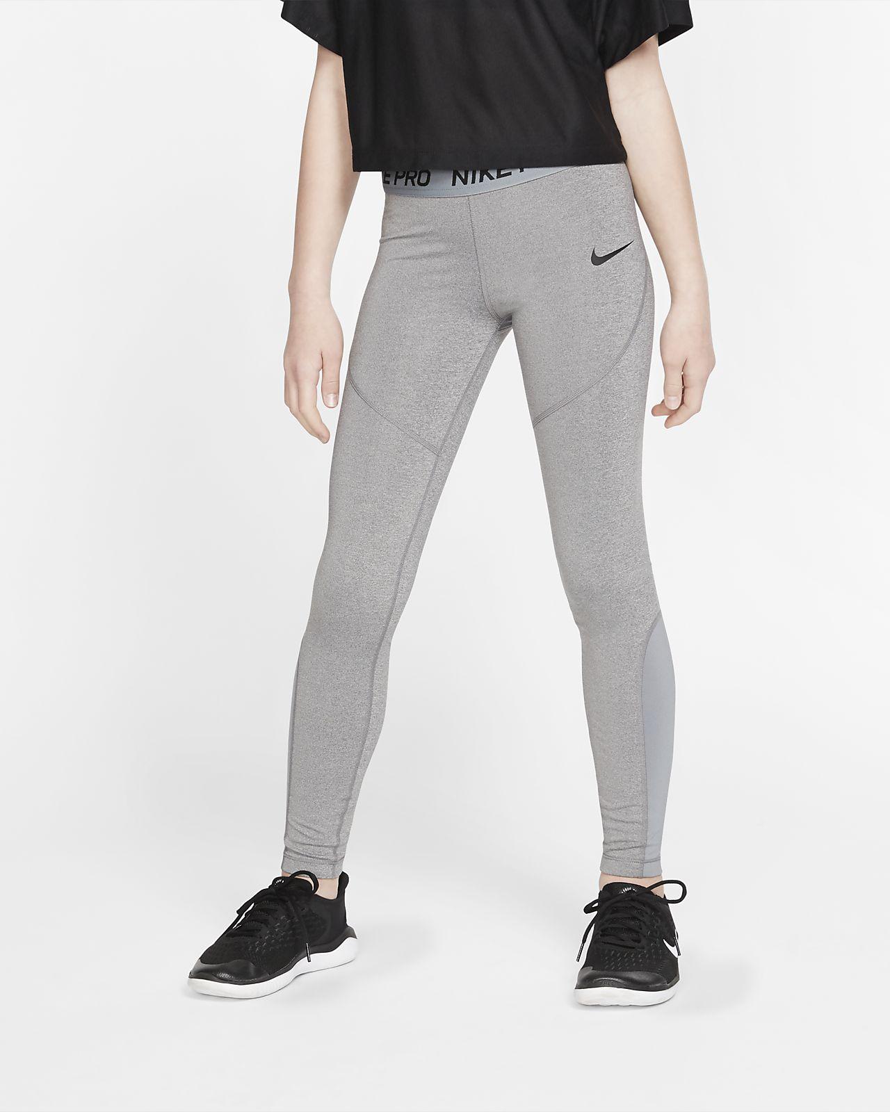 Nike Pro tights til store barn (jente)