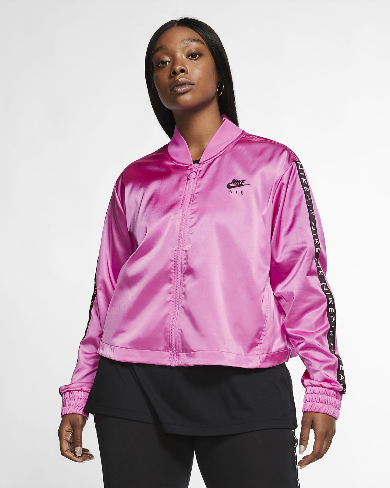 Track jacket in satin Nike Air (Plus Size) - Donna