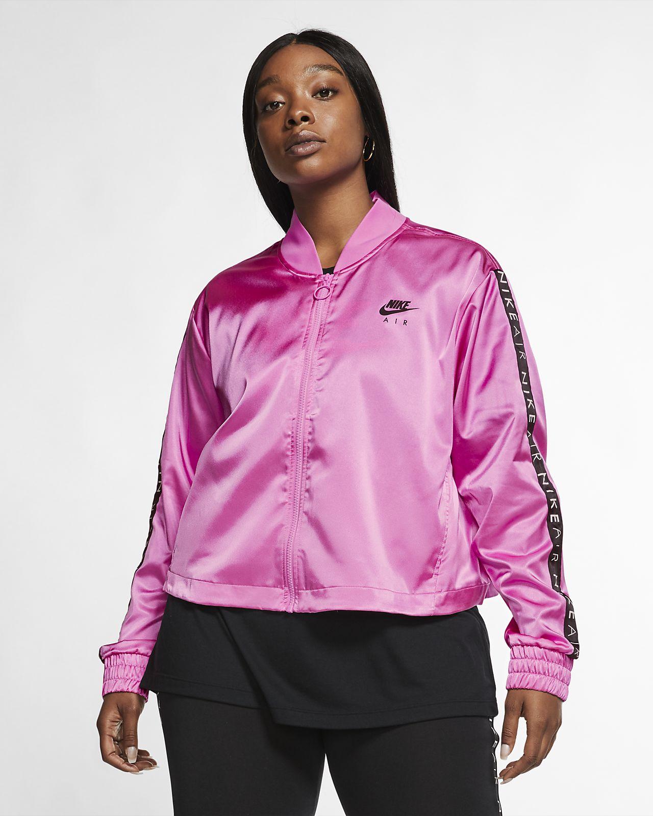 Veste de survêtement en satin Nike Air pour Femme (grande taille)