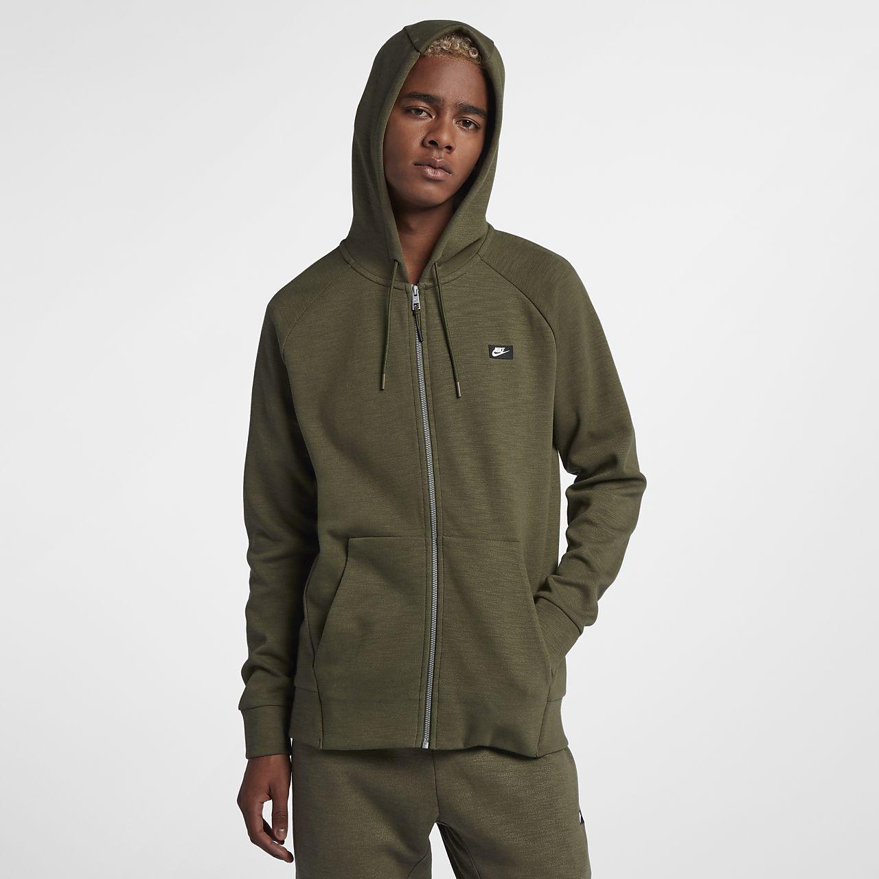 4758bd7a15f0 Ανδρική μπλούζα με κουκούλα και φερμουάρ Nike Sportswear Optic. Nike ...