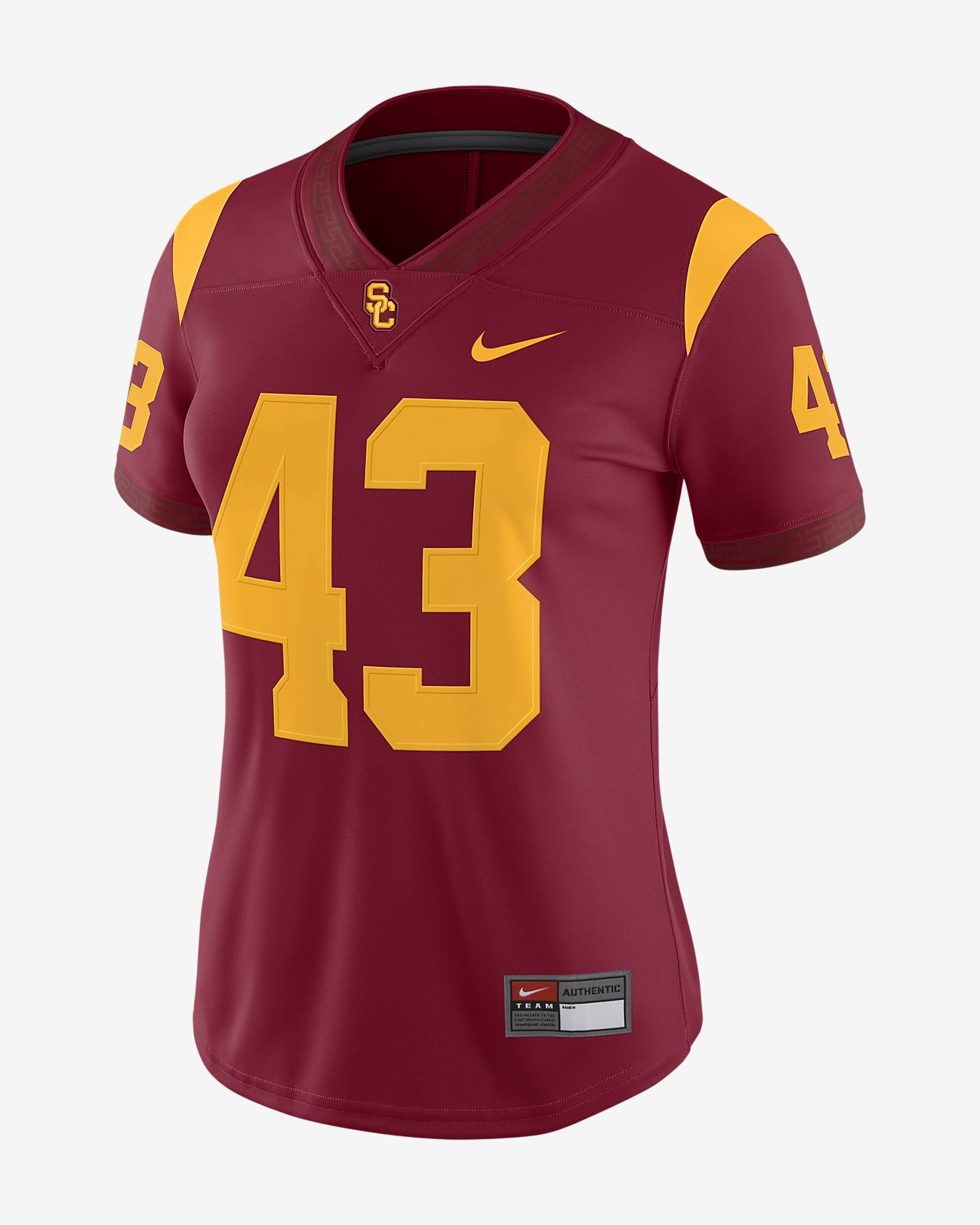 new arrival b2262 3a45b Nike College Dri-FIT Game (USC) Women's Football Jersey
