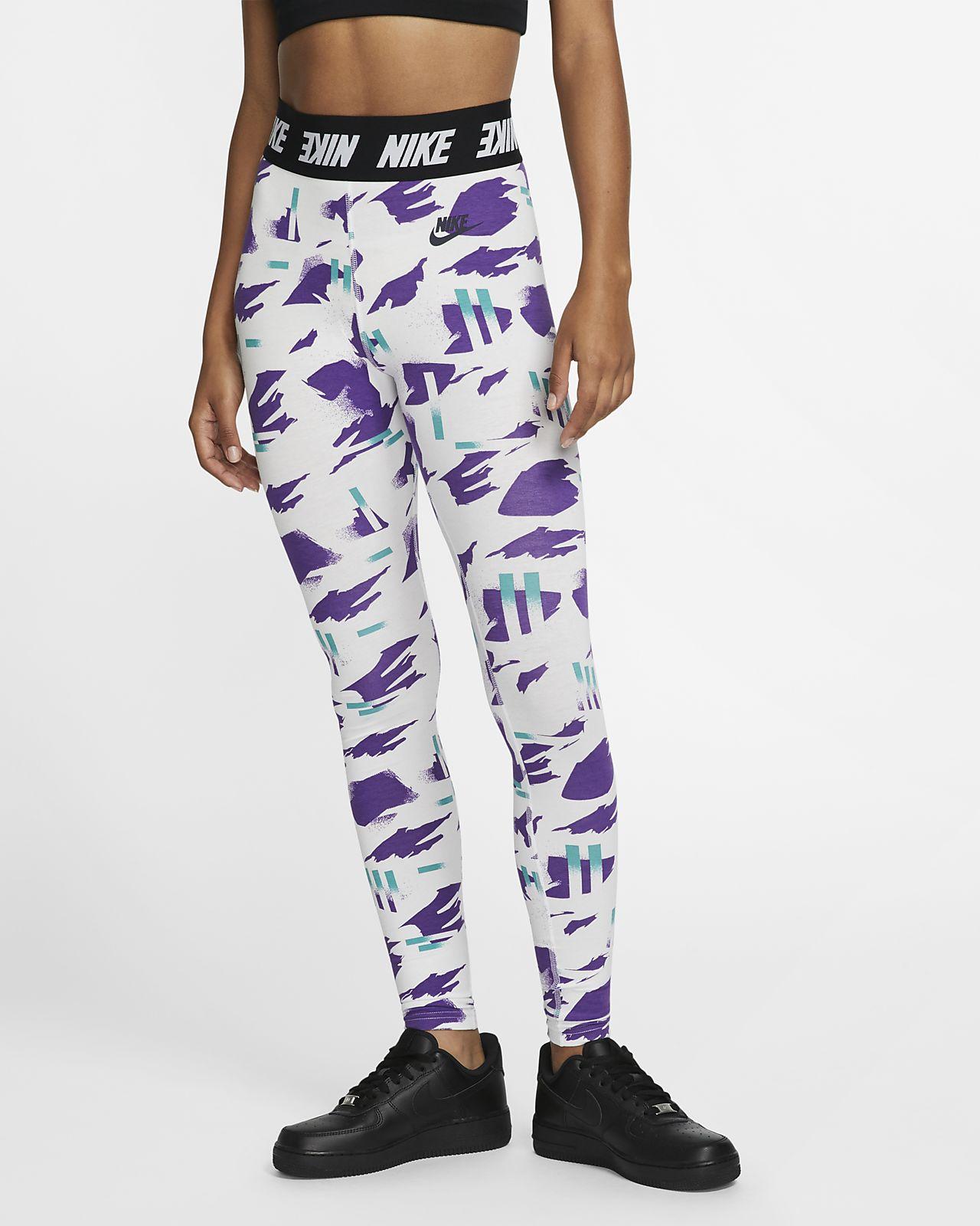 Leggings Nike Sportswear med tryck och hög midja för kvinnor