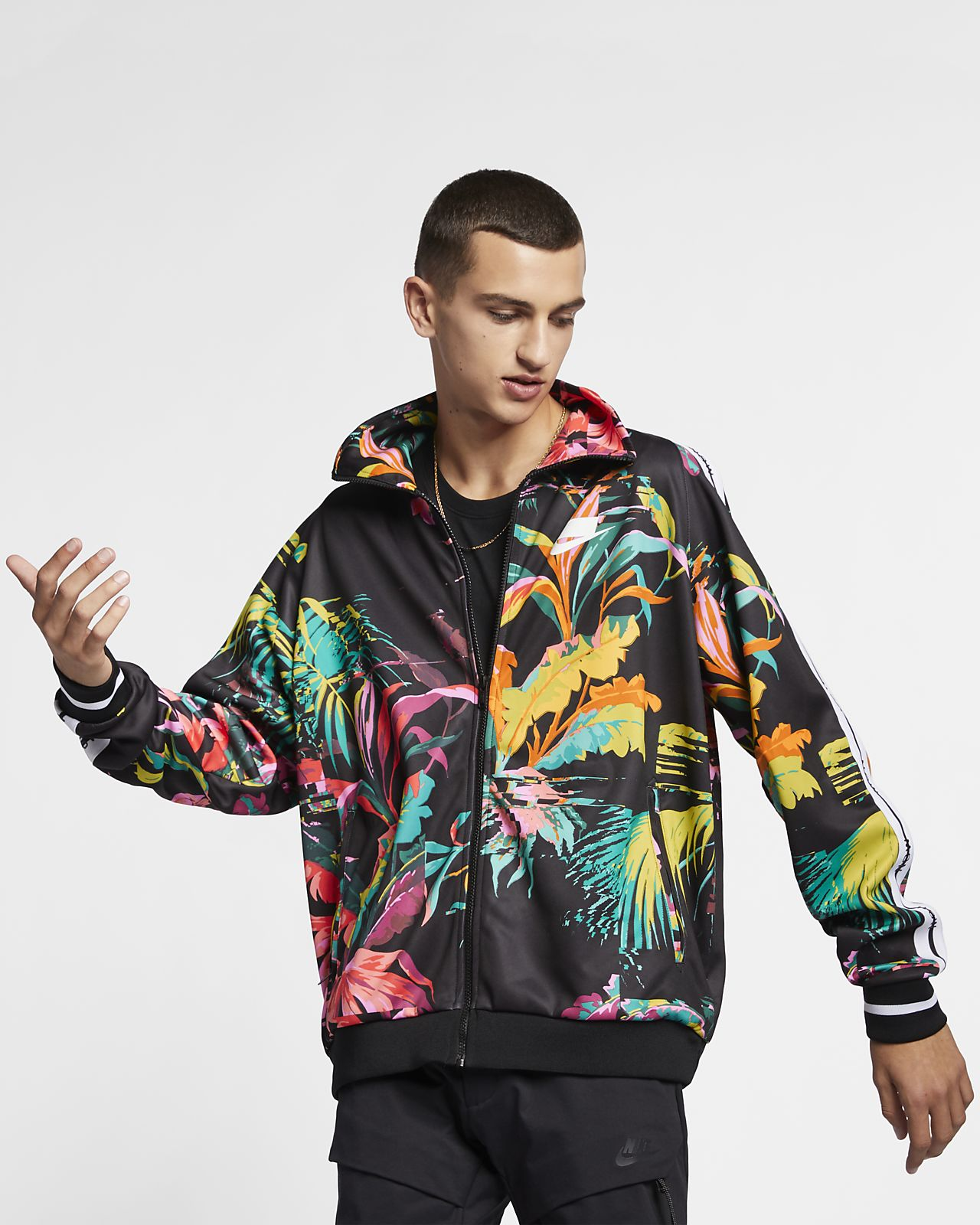 "Nike Sportswear NSW ""Palm Tree"" Men's Foldable Collar Track Jacket"