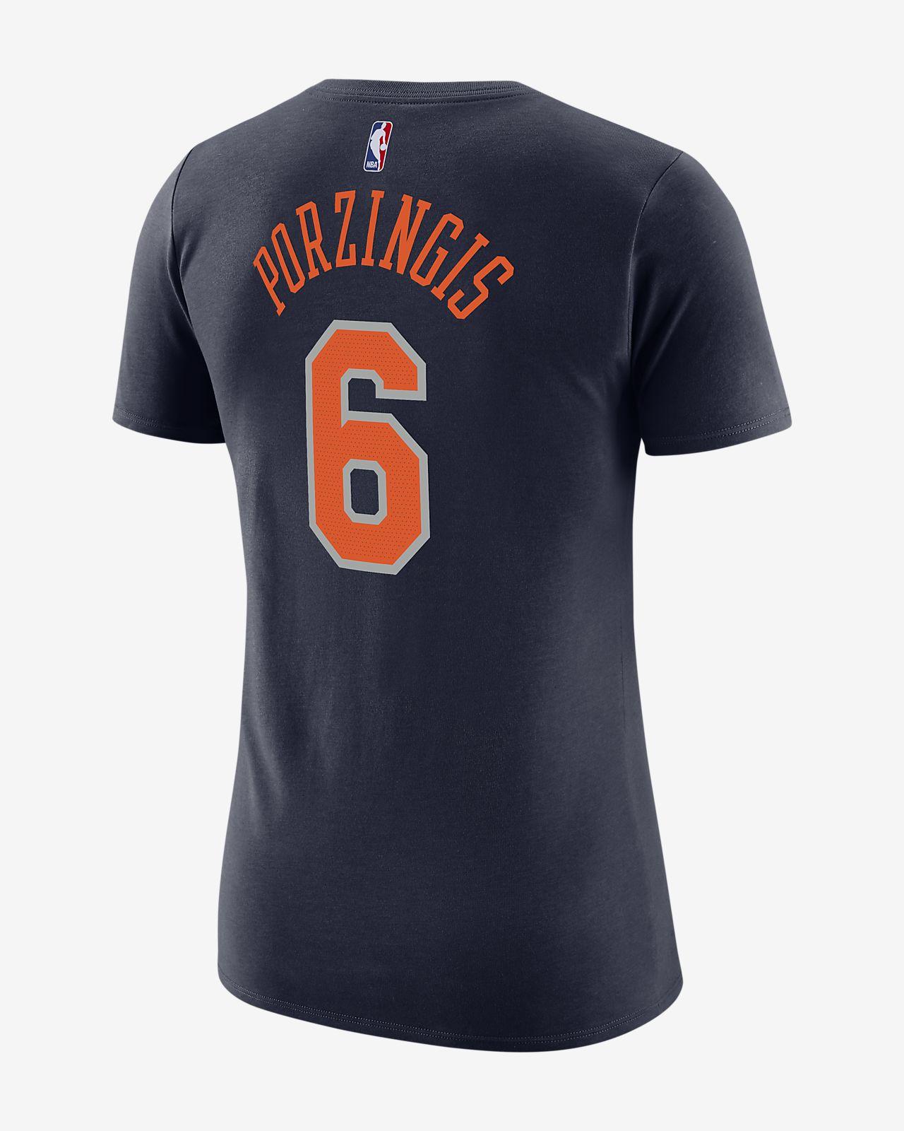 ... Kristaps Porzingis New York Knicks City Edition Nike Dri-FIT Women's  NBA T-Shirt