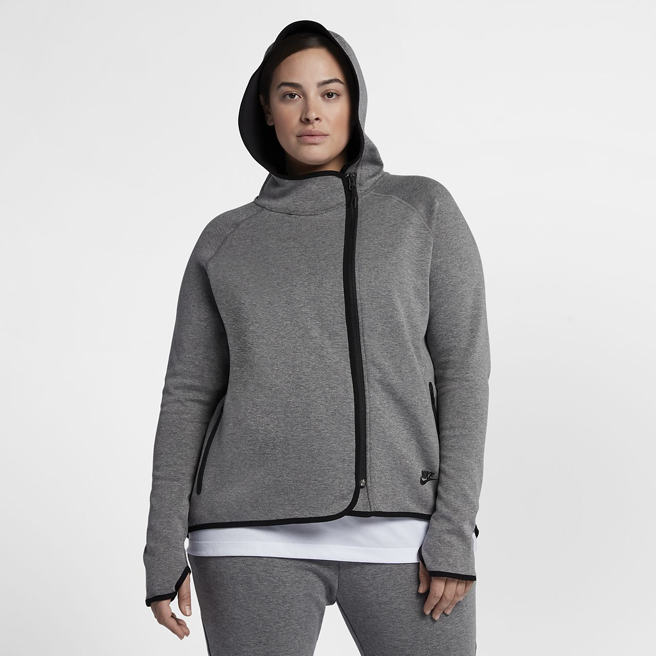 13c1d85843dbc Nike Sportswear Tech Fleece (Plus Size) Women s Full-Zip Cape. Nike.com