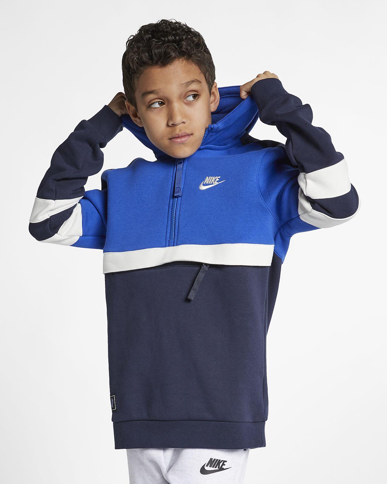 Huvtröja med halv dragkedja Nike Sportswear för ungdom