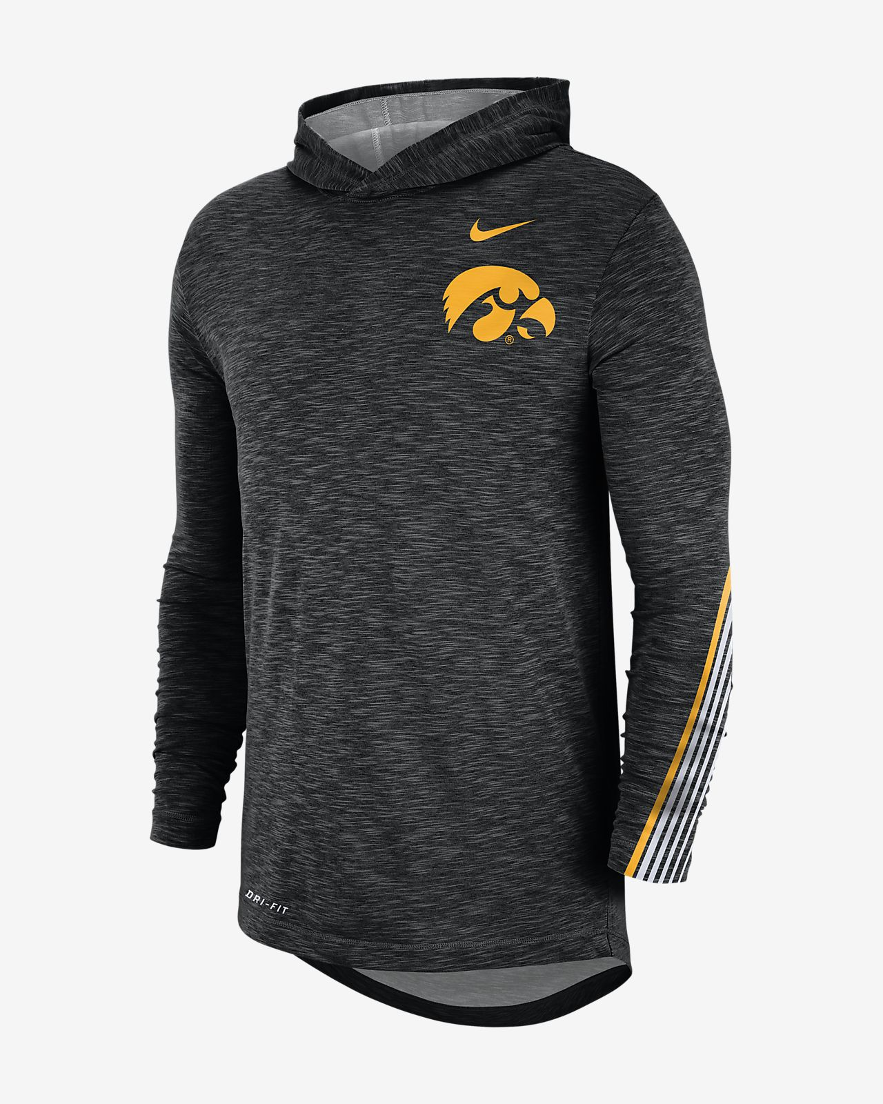 Nike College (Iowa) Men's Long-Sleeve Hooded T-Shirt