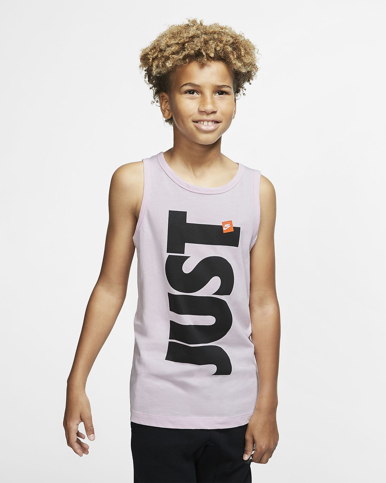 Camiseta de tirantes para niños talla grande Nike Sportswear Just Do It