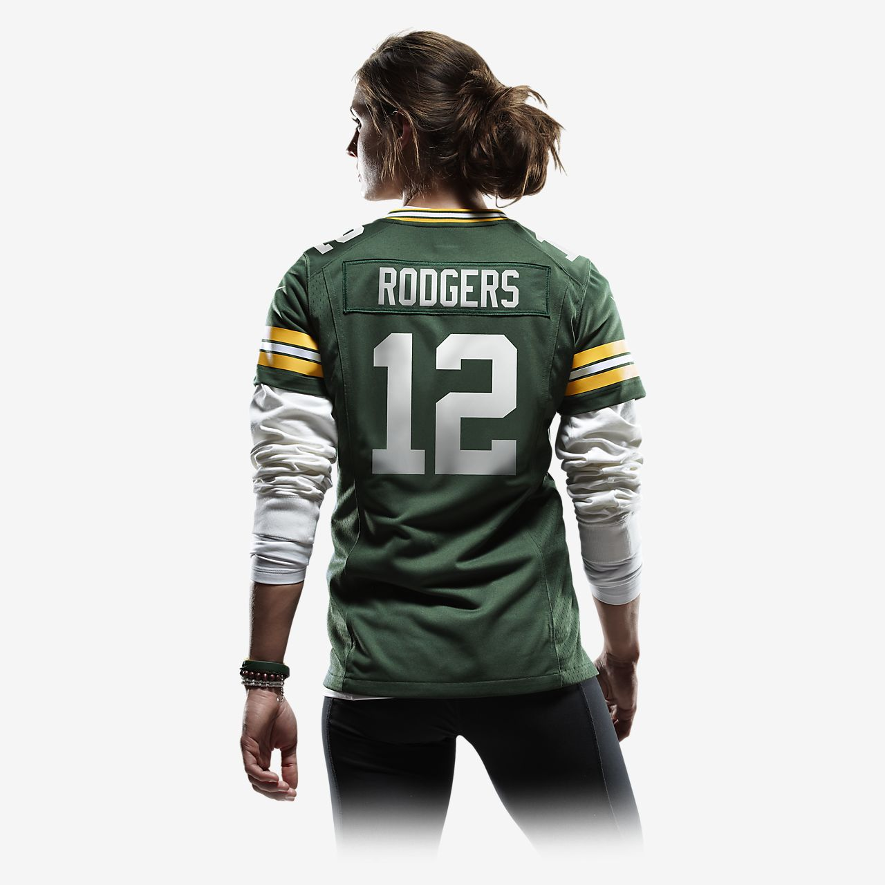 best service 6e672 d71a2 NFL Green Bay Packers (Aaron Rodgers) Women's Football Home Game Jersey