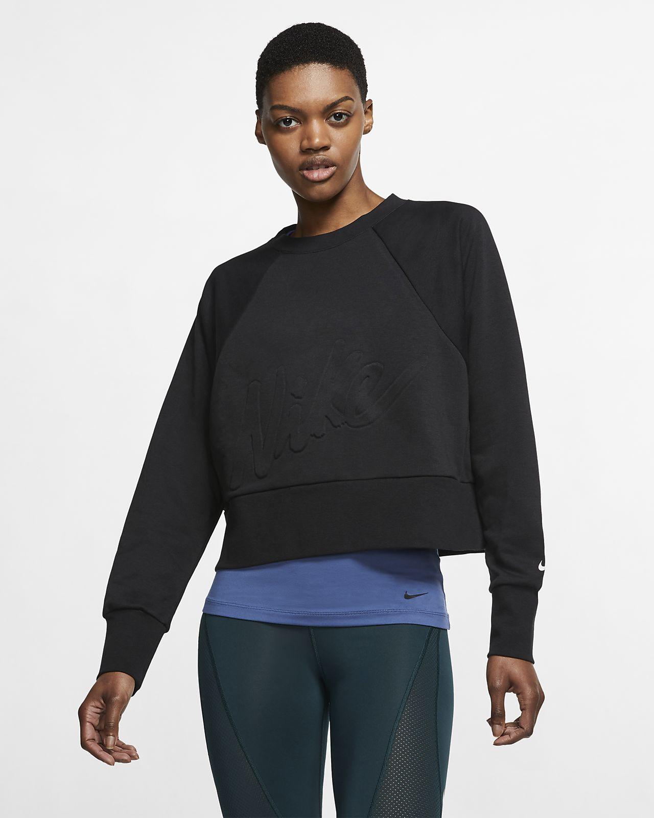 Nike Dri-FIT Get Fit Fleece-Trainings-Rundhalsshirt für Damen
