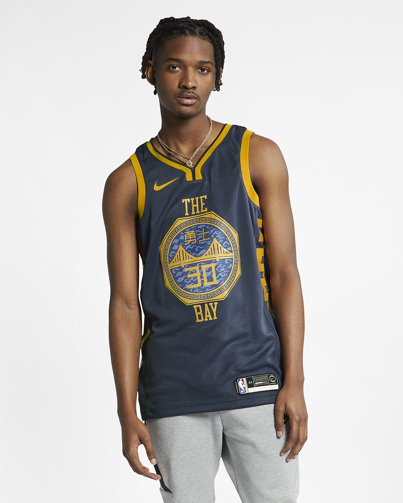 Stephen Curry City Edition Swingman (Golden State Warriors) Nike NBA Connected Trikot für Herren
