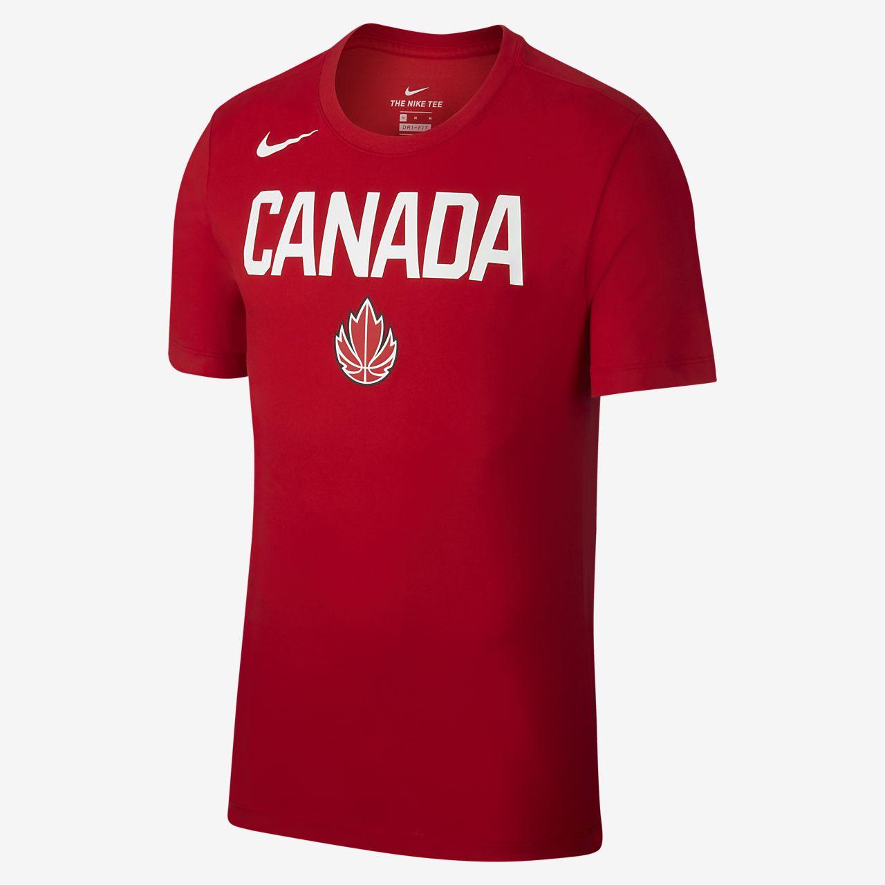 T-shirt de basquetebol Team Canada para homem