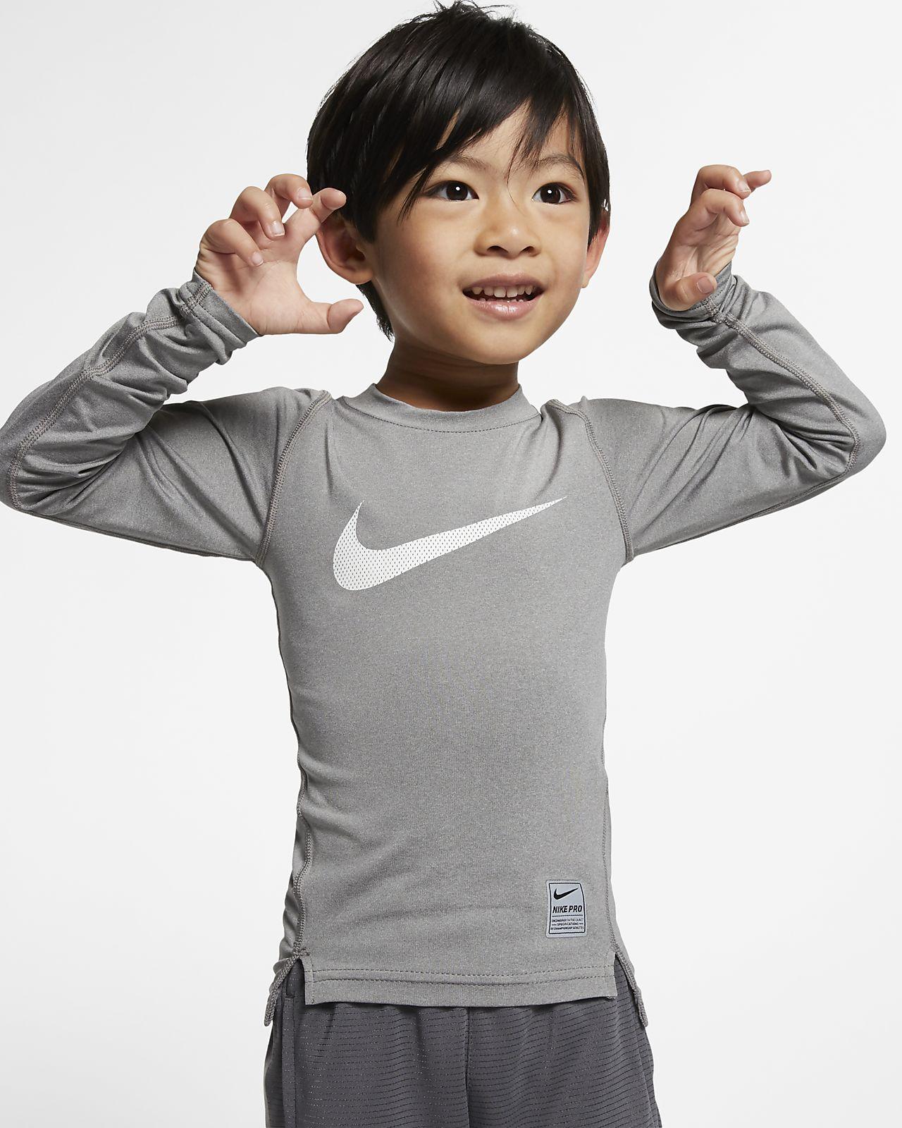 Nike Pro Little Kids' (Boys') Long Sleeve Training Top