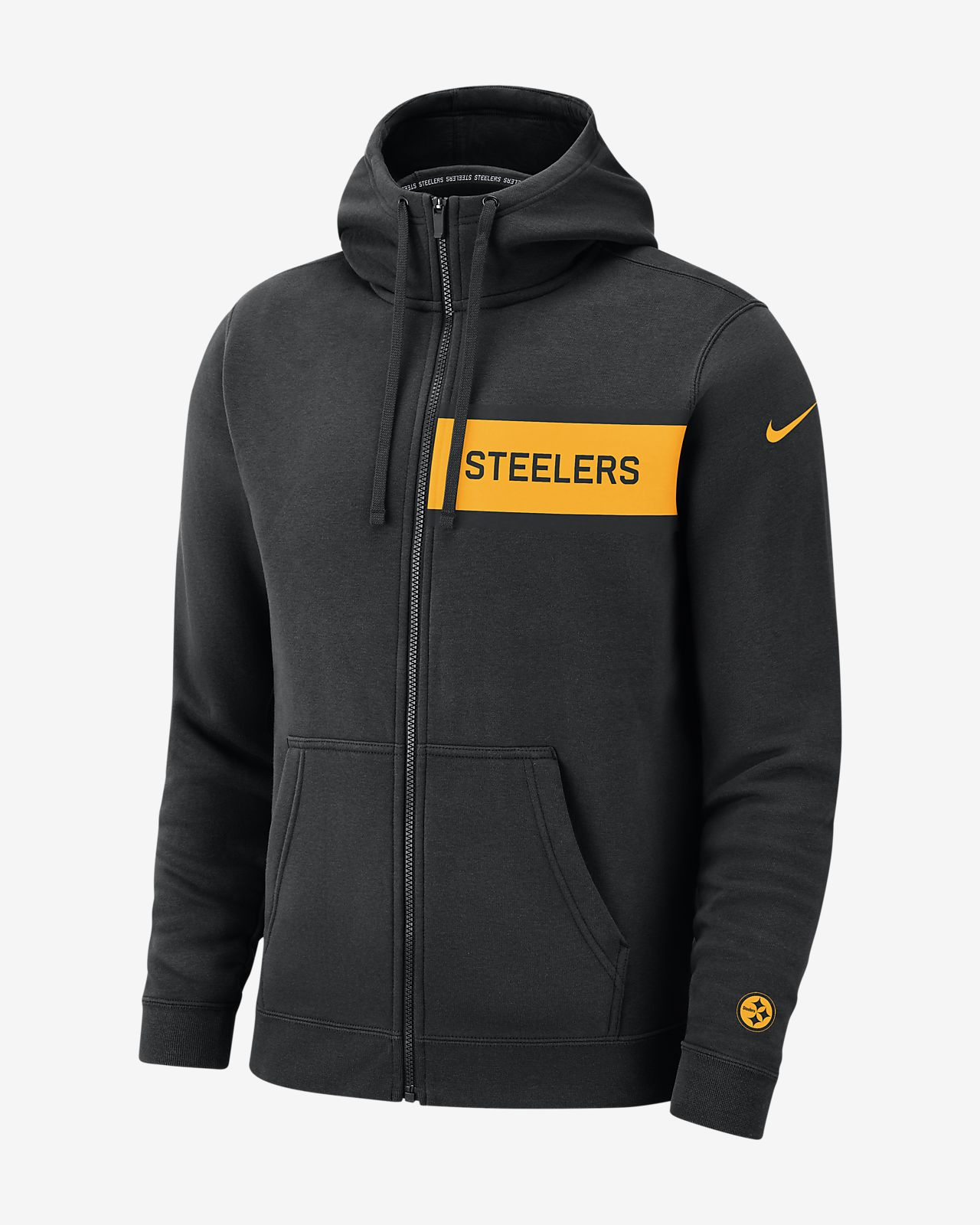 pretty nice 1ebfc a65fa Nike (NFL Steelers) Men's Club Fleece Full-Zip Hoodie