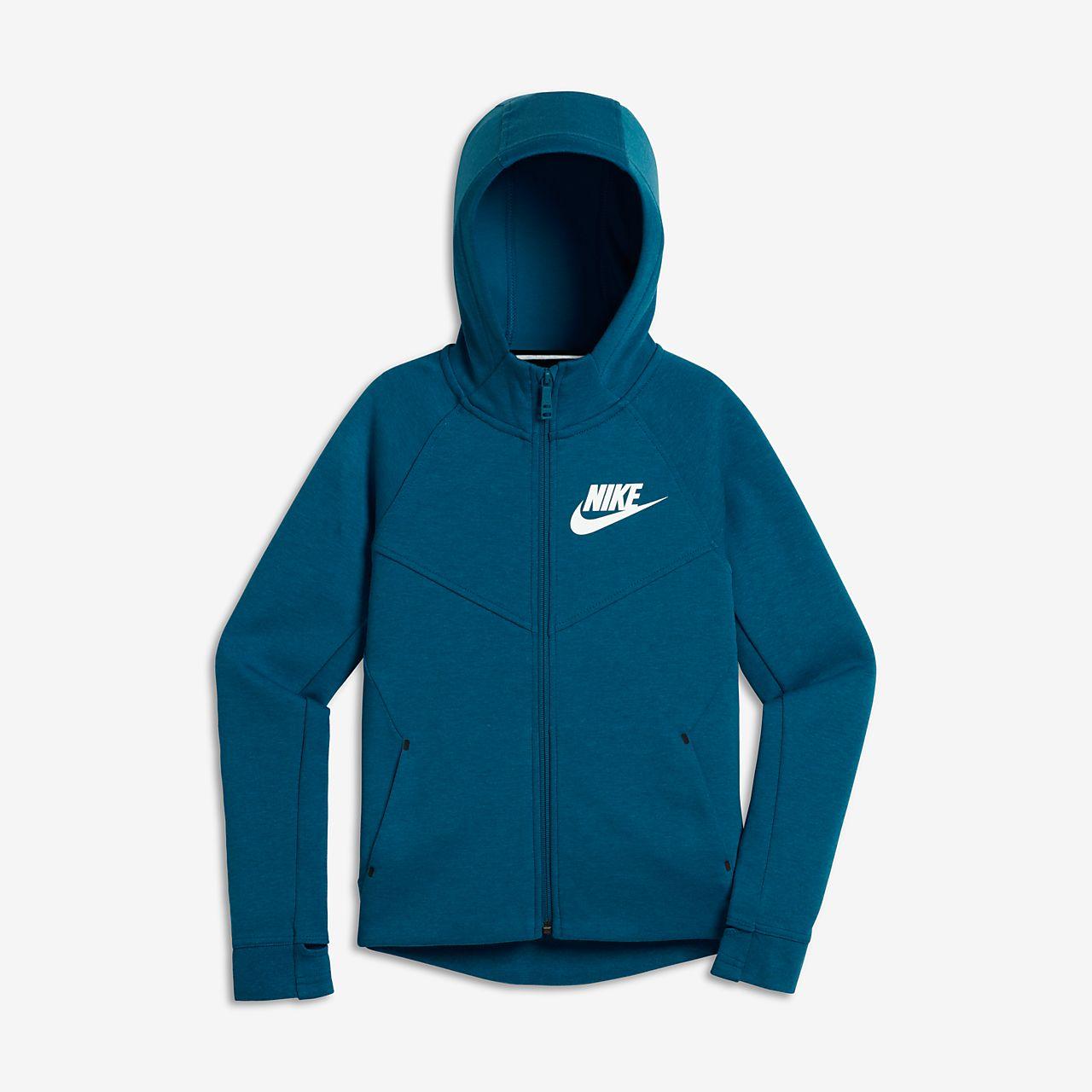 Nike Sportswear Tech Fleece Big Kids' Hoodies Industrial Blue/Heather/White