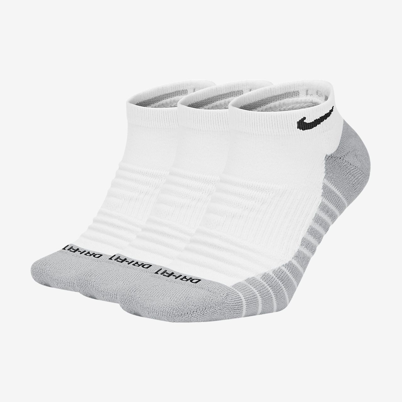 Nike Everyday Max Cushioned Training No-Show Socks (3 Pairs)