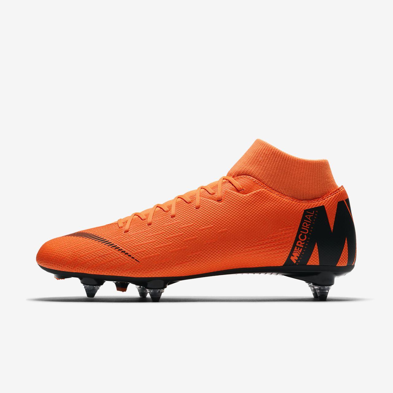 Nike Performance SUPERFLY 6 PRO FG - Chaussures de foot à crampons - total orange/white/volt vB83SMcVB