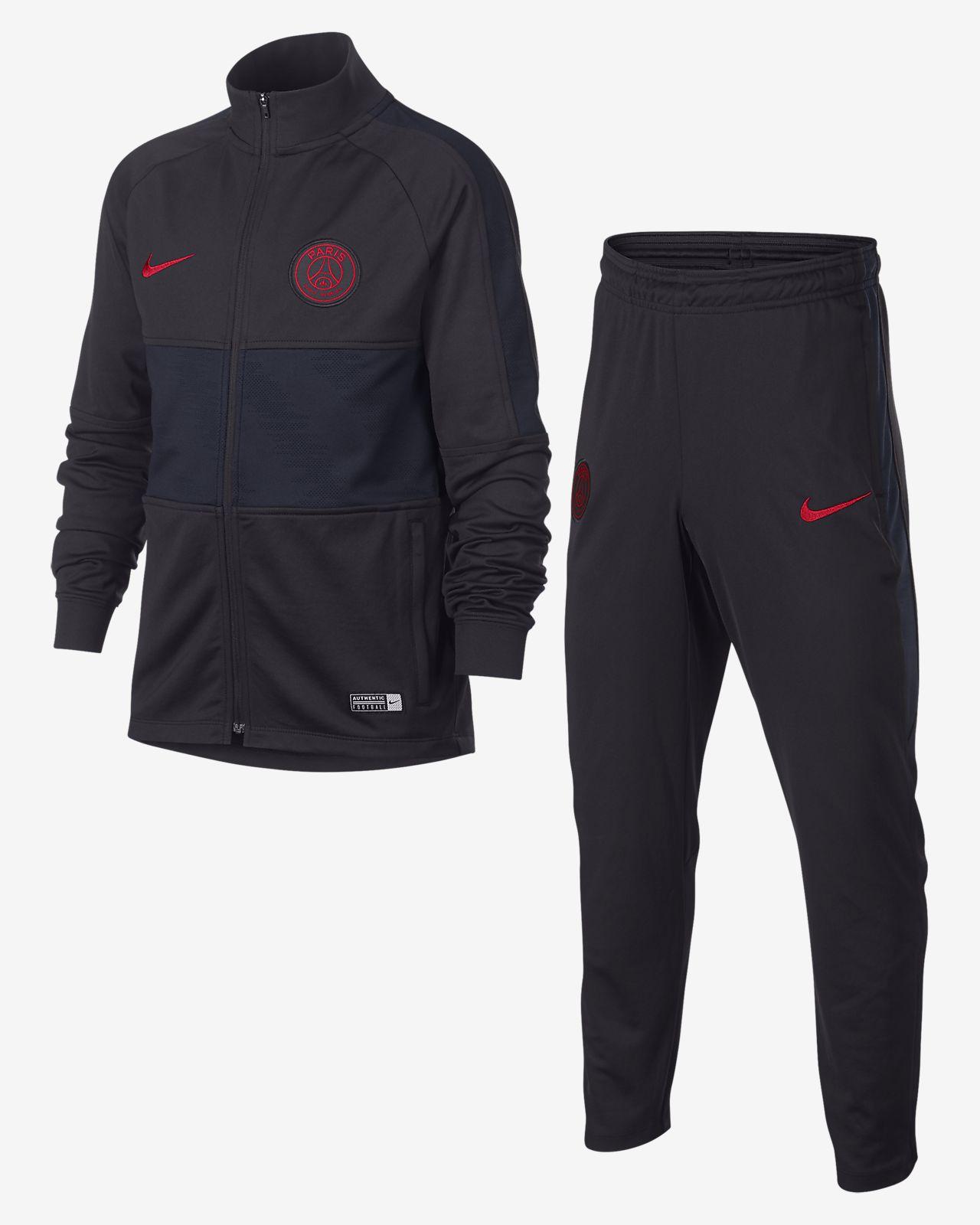 Nike Dri Fit Paris Saint Germain Strike Fussball Trainingsanzug Fur Altere Kinder
