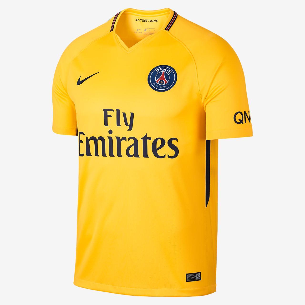 937b977566 ... Camiseta de fútbol para hombre de visitante Stadium del Paris Saint-Germain  2017 18