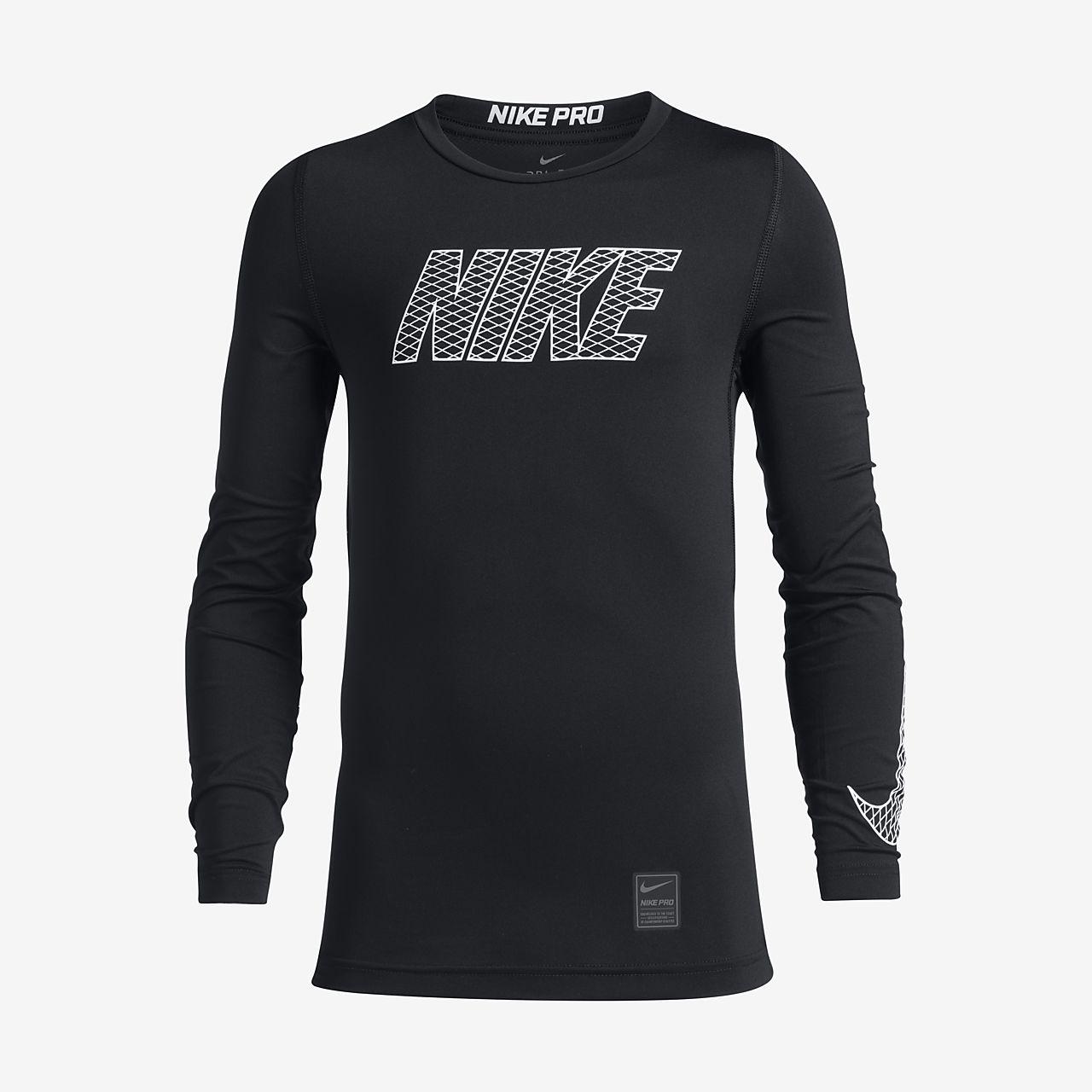 2857361872950 Nike Pro Camiseta de entrenamiento de manga larga - Niño. Nike.com ES