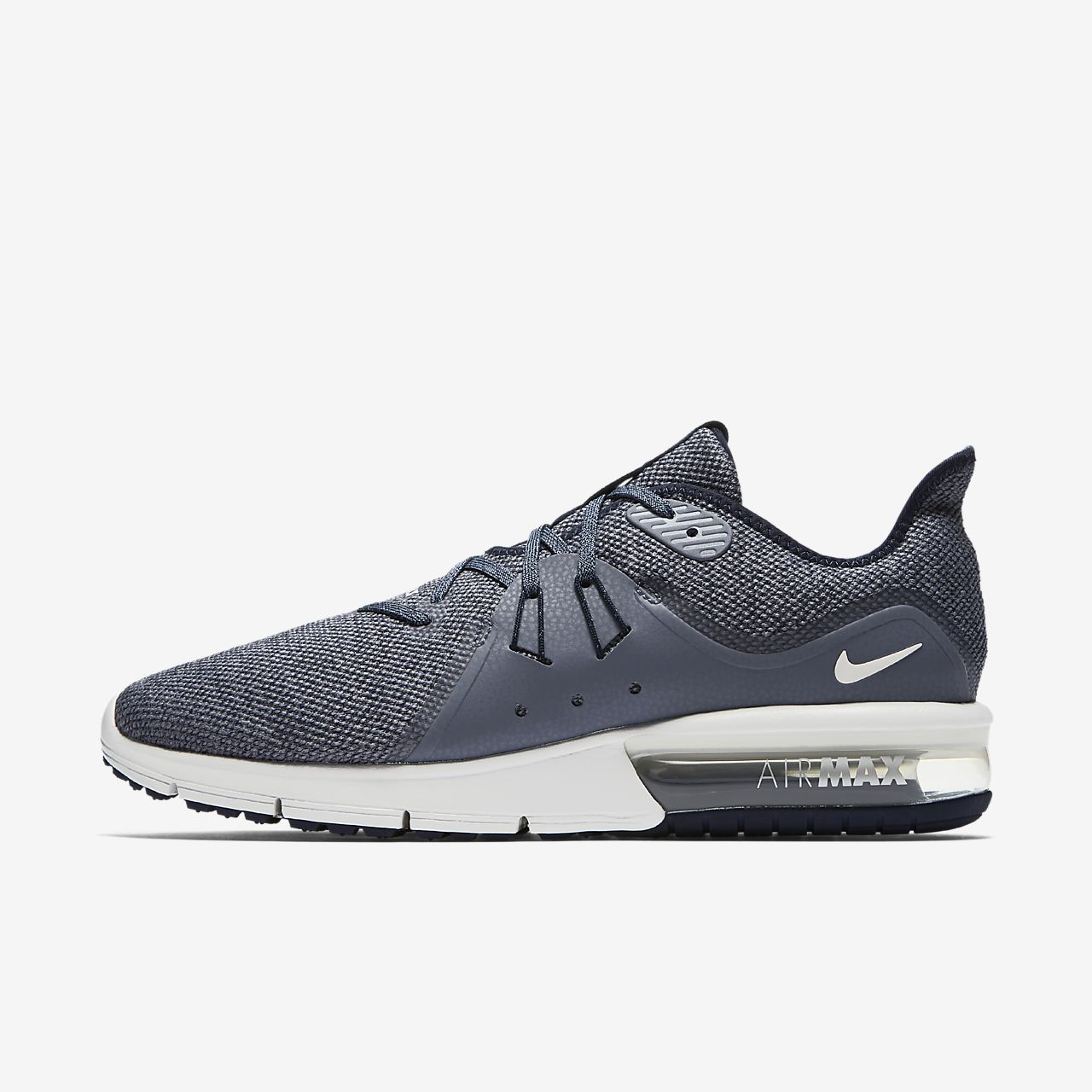 666288433 Nike Performance Air Max Sequent Mens Trainers Outlet Midnight Navy