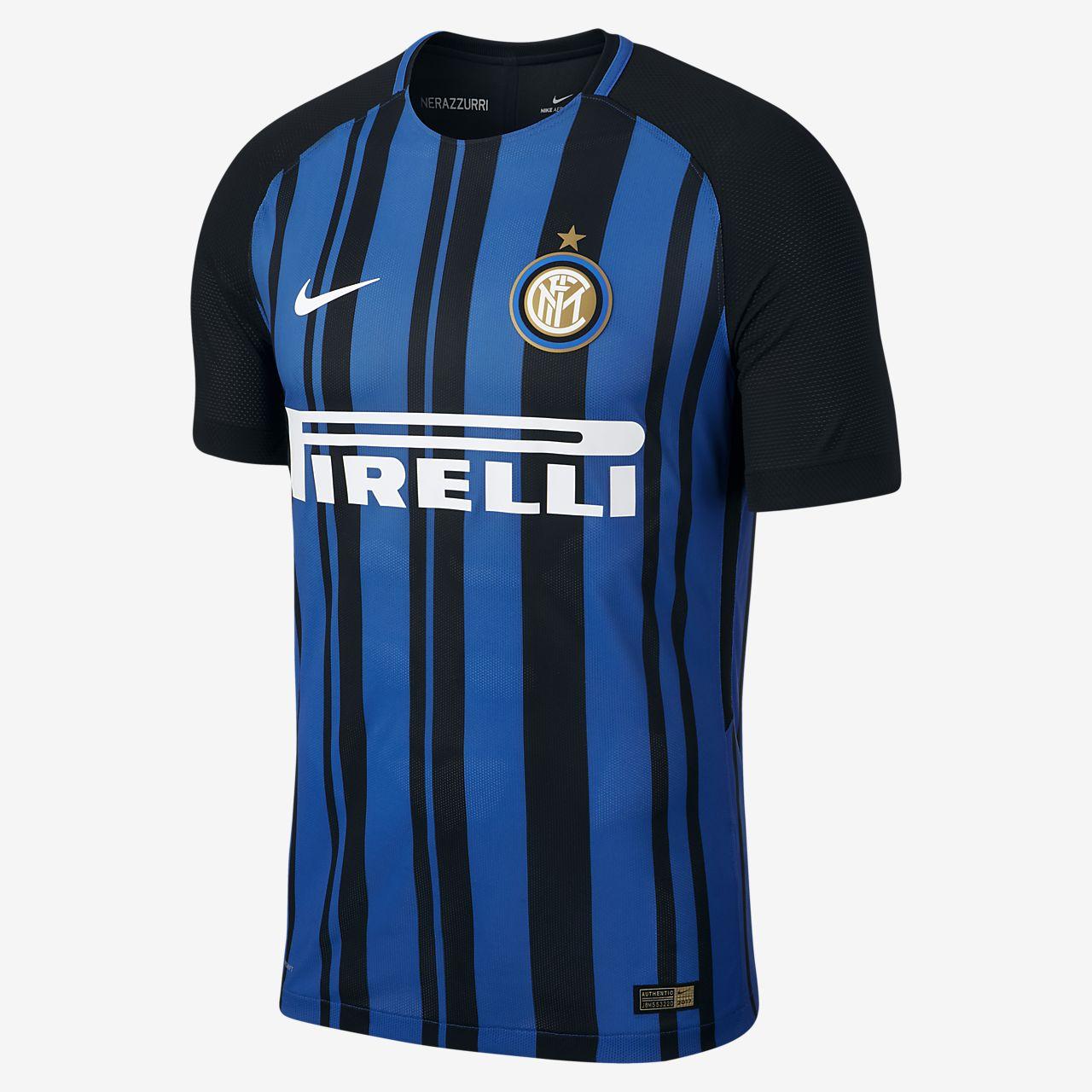 Camiseta de fútbol para hombre Inter Milan Vapor de local para jugadores, temporada 2017/18
