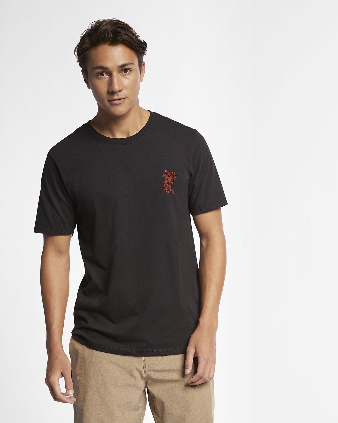 Hurley Premium Tigrito Mens Oversized T Shirt Za Grey