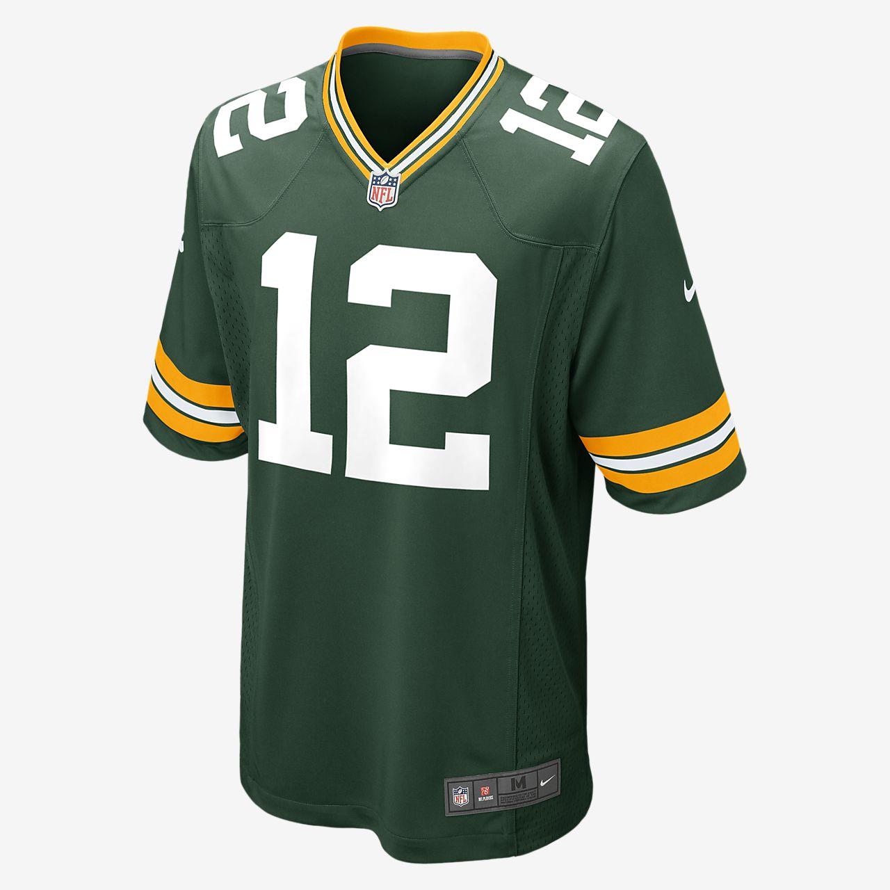Camiseta oficial de fútbol americano de local para hombre de NFL Green Bay Packers (Aaron Rodgers)