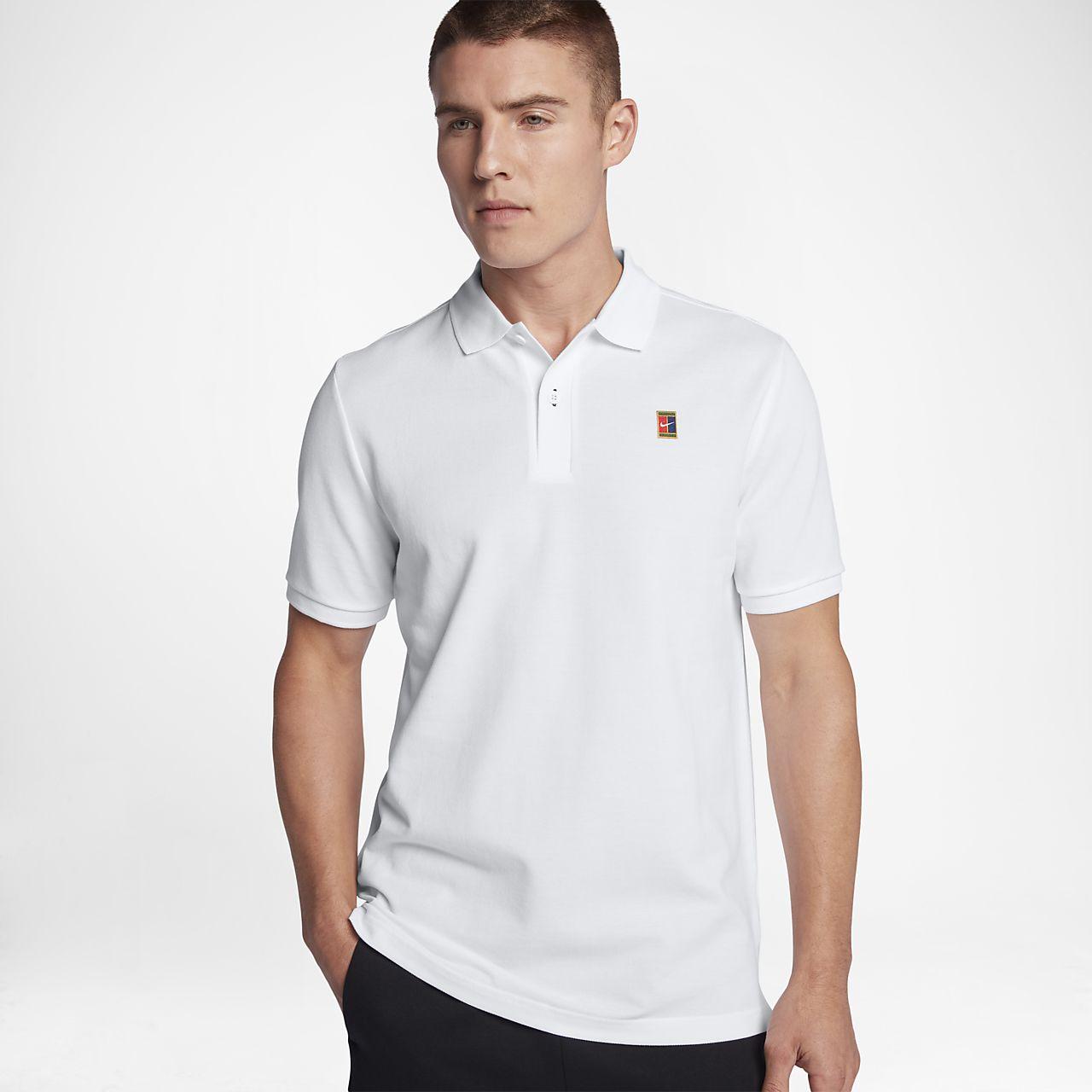 Nike Court Heritage Polo manches courtes XL blanc/noir vS6TXBt