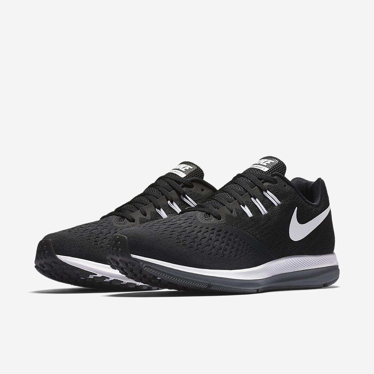 Nike Performance ZOOM WINFLO 4 - Neutral running shoes - black/white/dark grey WAGvJHuEa