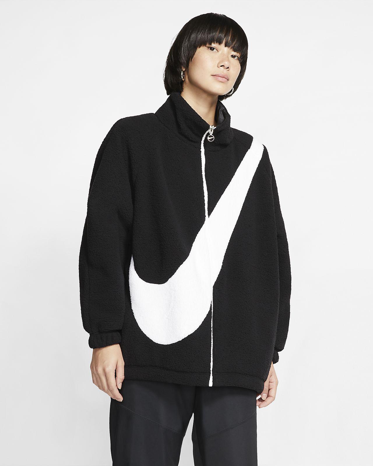 Женская двусторонняя куртка из материала Sherpa Nike Sportswear Swoosh