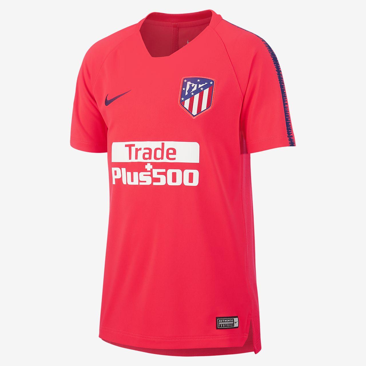 Игровая футболка для школьников Atletico de Madrid Breathe Squad
