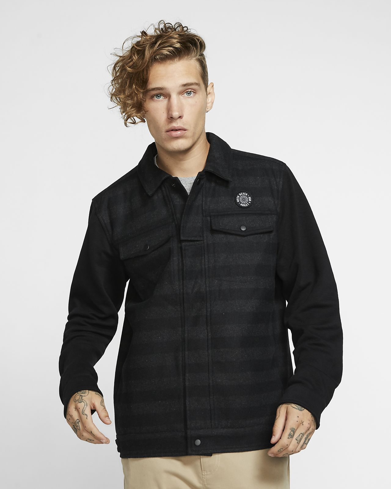 Hurley x Roland Sands Trucker Hybrid Men's Jacket